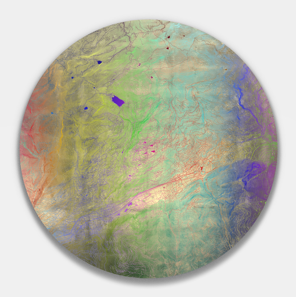 Contour Curve - Crans Montana - Coloured UV ink on Silver leaf - 104 x 104 cm.jpeg