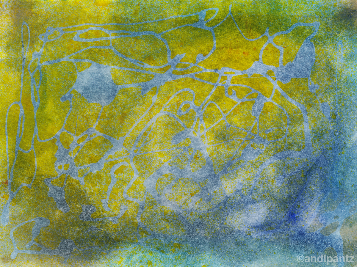 """Forsythia""   Watercolor and Ink on watercolor paper.   4 1/2"" x 6"". March 2015.   Original painting: $20 shipped, unmatted/unframed."