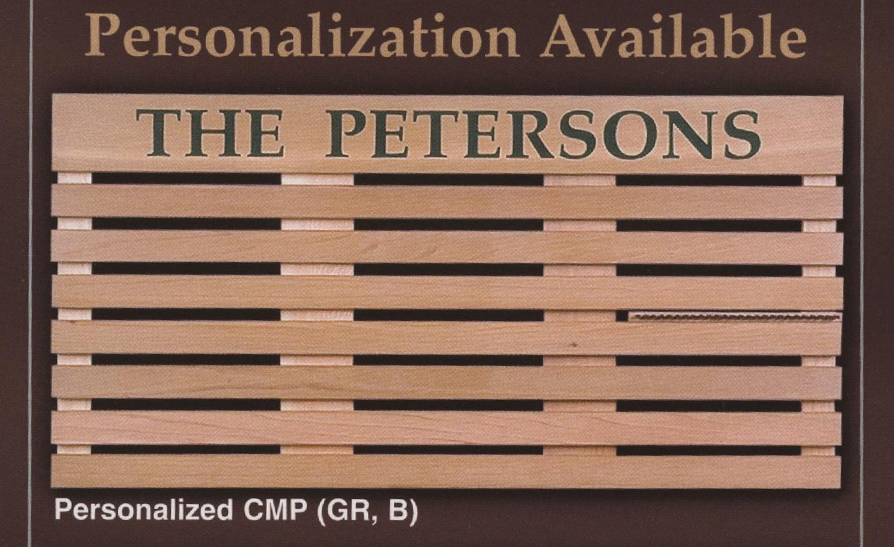 """14652 - Personalized Door Mat """"The Sanfords"""" - $89 - Received"""