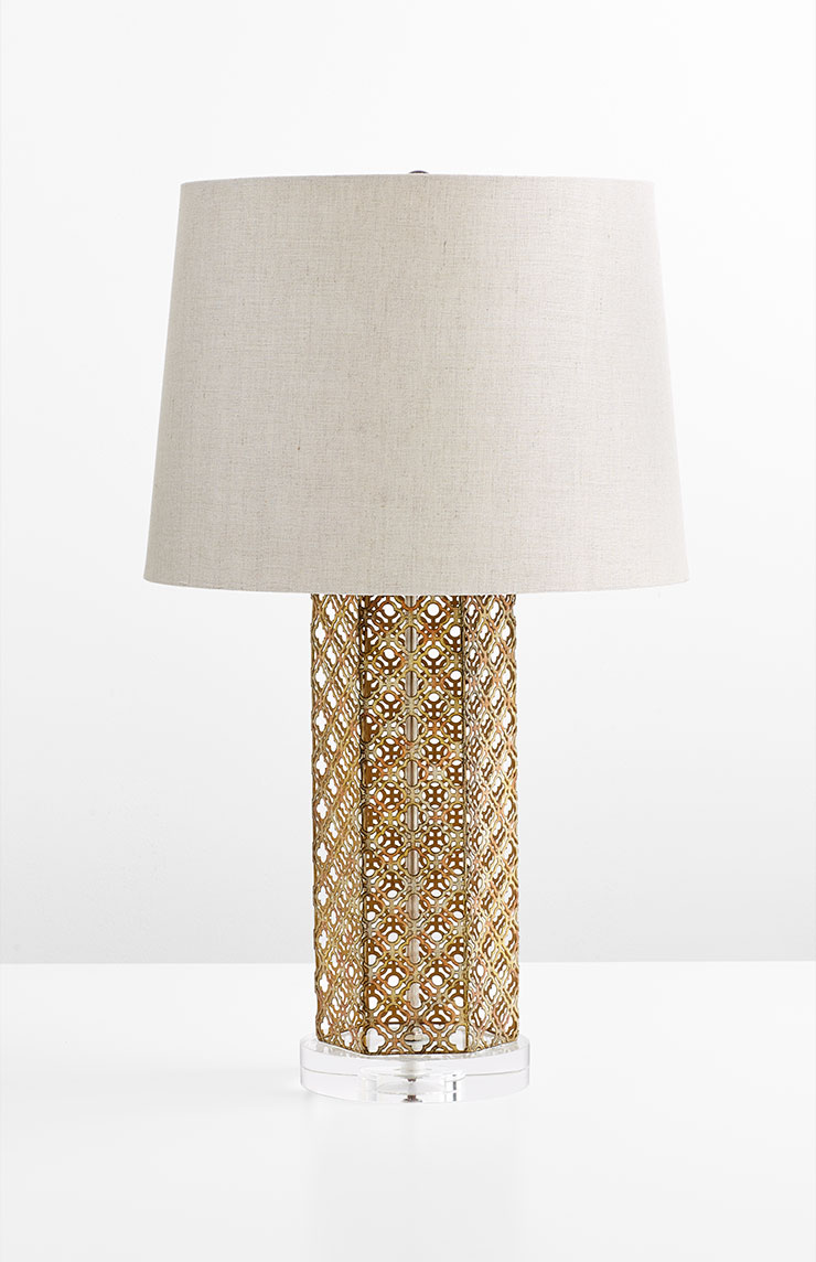 23507 - Woven Gold Table Lamp - $289 - Received