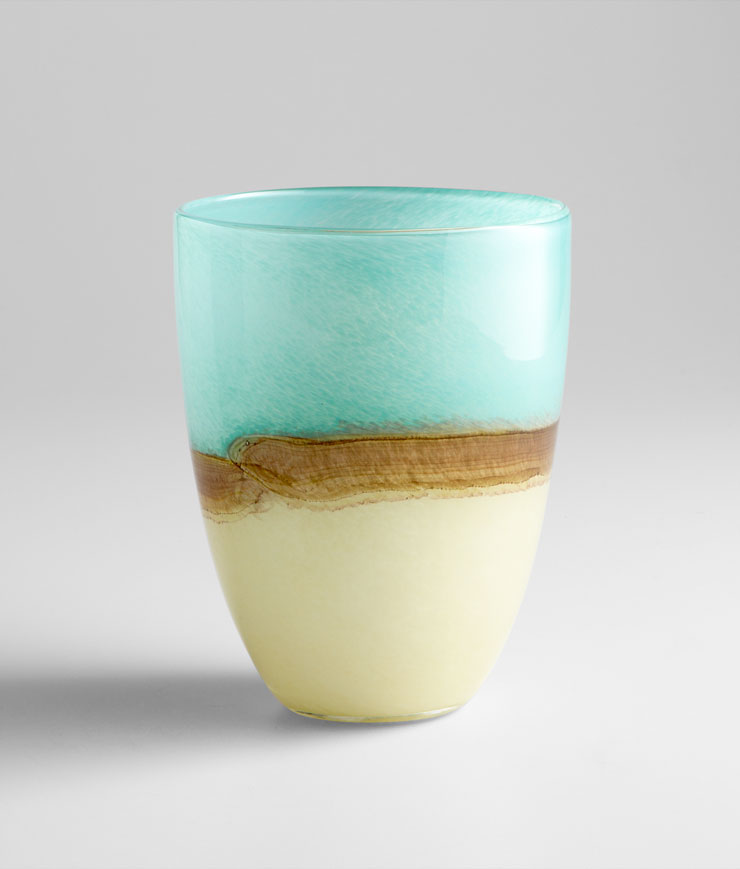 20745 - Turquoise Earth Vase - $58 - Received