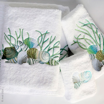 23281 - Blue Shell Guest Towels(2) - $36