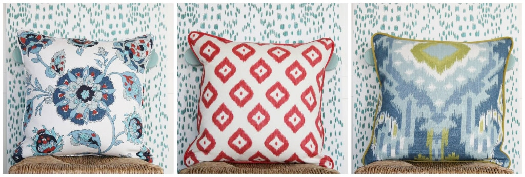 The easiest way to change a room's look is by swapping out throw pillows. Stop in and pick up something from the shop or have our interior designers custom create something just for you.