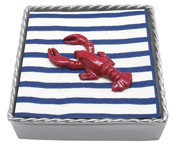 23543 - Lobster Napkin Box - $47