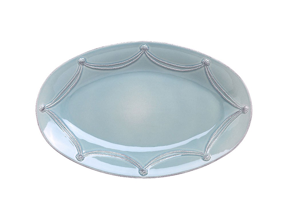 14461 - Large Ice Blue Oval Serving Platter - $125