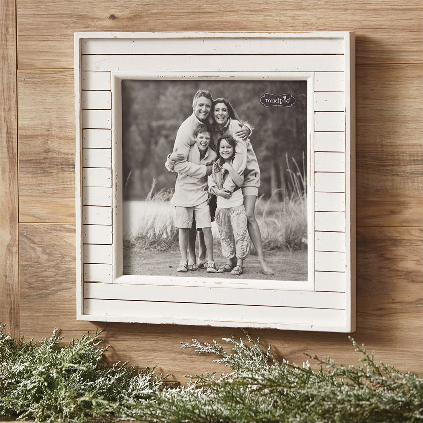 26709 - Large Wooden Frame in White - $38