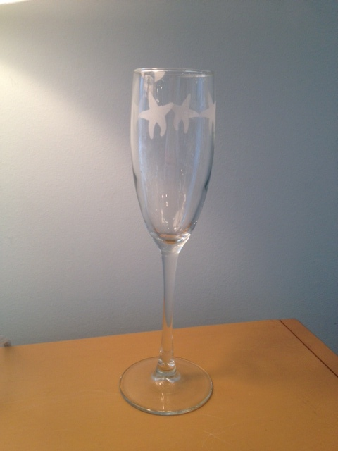 21284 - Starfish Champagne Flutes (8) - $15/each - Received 6