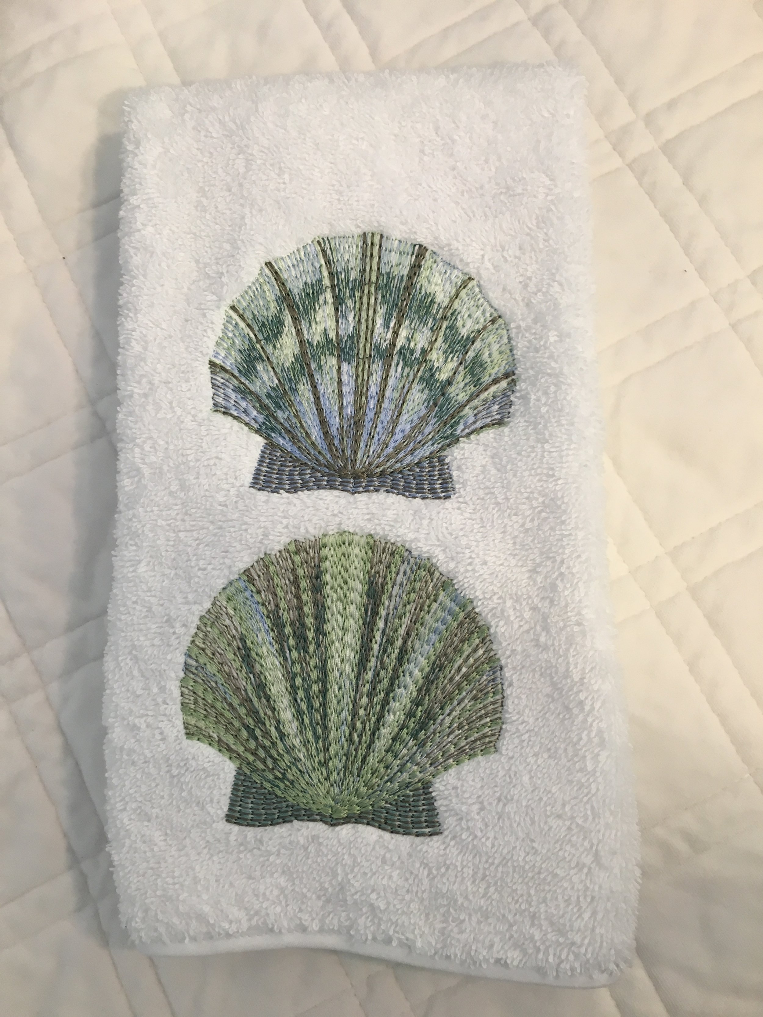 23279 - Scallop Shell Hand Towel (2) - $36/each