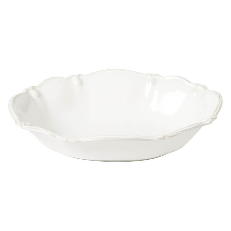 "25268 - 10"" Berry & Thread White Oval Serving Bowl - $58 - Received"