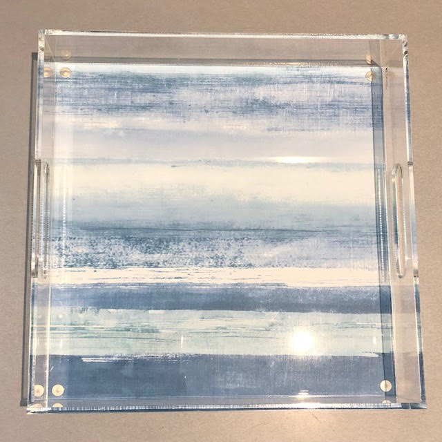 "29650 - 12"" Square Acrylic Tray - $65 - Received"