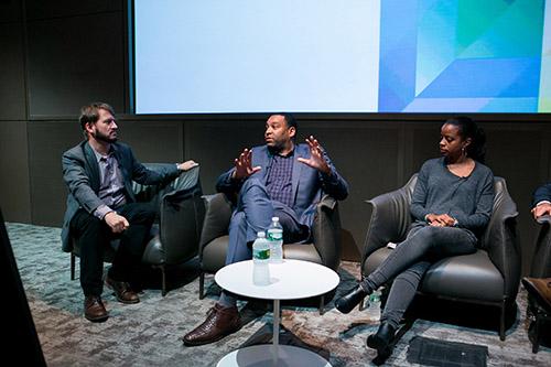 Piers Fawkes, Daniel Cherry III, Emily Anadu at 4A's CreateTech 2015