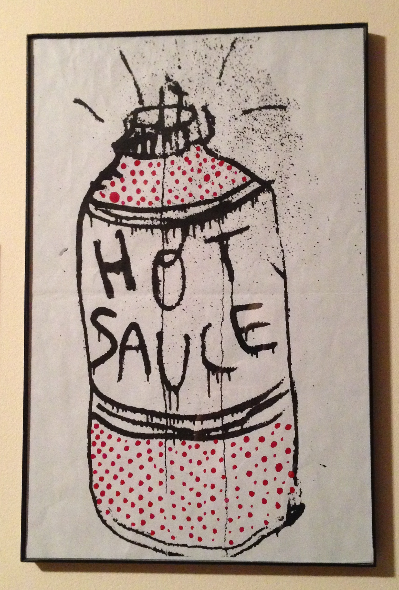 """Hot sauce"" drawing given to me by Spring Break"