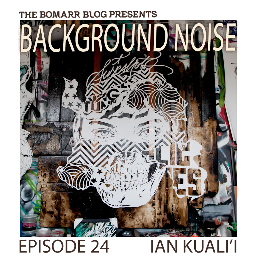 """The """"Background Noise"""" podcast series focuses on the music that artists listen to when they work, what music inspires them, or just music they like. This week, in Episode 24, the focus is New Jersey-based artist Ian Kuali'i."""