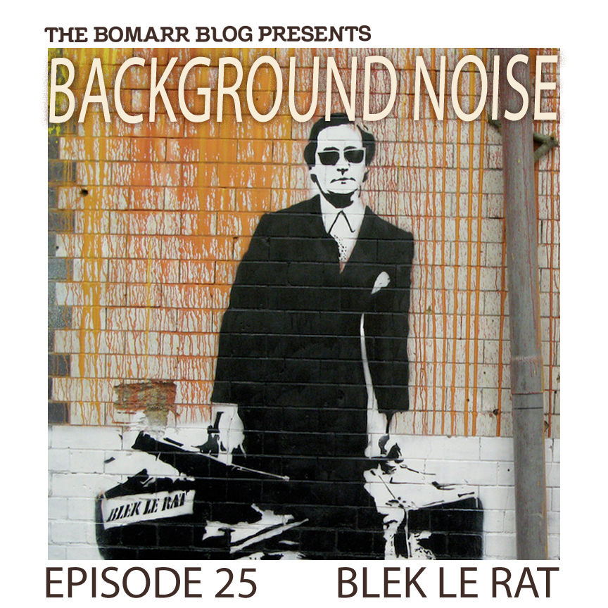 "The ""Background Noise"" podcast series focuses on the music that artists listen to when they work, what music inspires them, or just music they like. This week, in Episode 25, the focus is on legendary Parisian stencil artist Blek Le Rat."