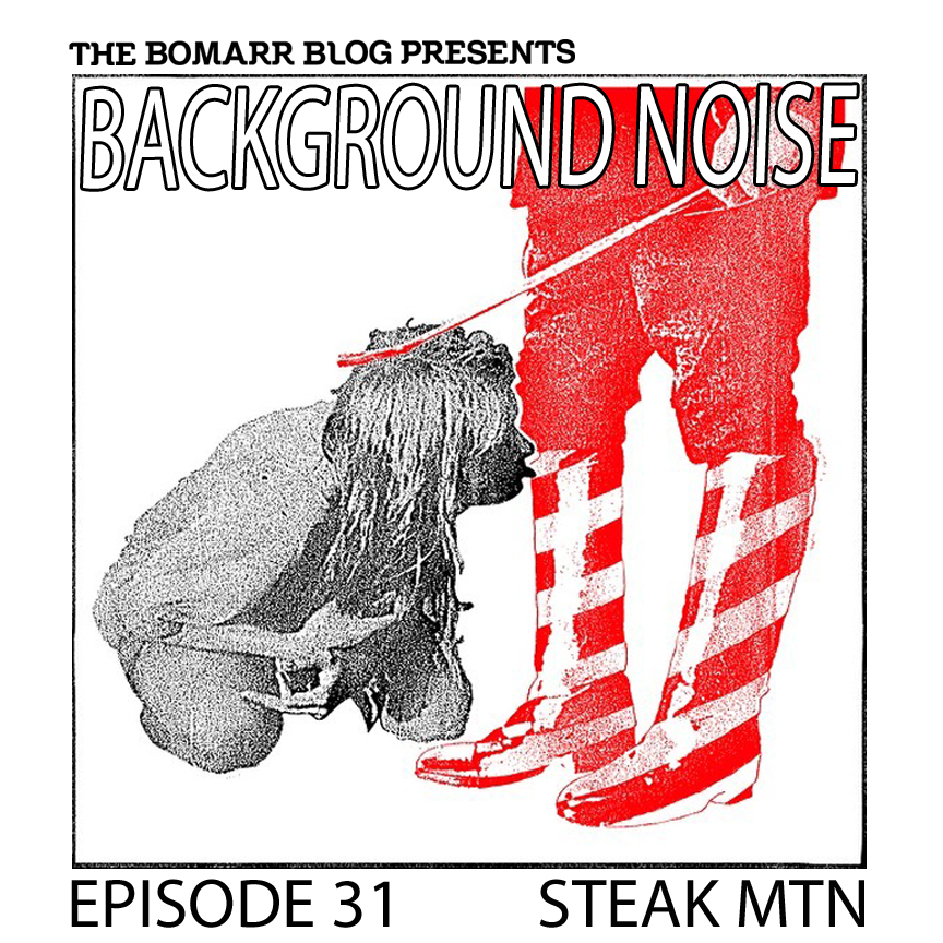 """The """"Background Noise"""" podcast series focuses on the music that artists listen to when they work, what music inspires them, or just music they like. This week, in Episode 31, the focus is on artist Steak Mtn."""