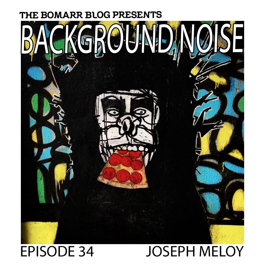 """The """"Background Noise"""" podcast series focuses on the music that artists listen to when they work, what music inspires them, or just music they like. This week, in Episode 34 the focus is on artist Joseph Meloy"""