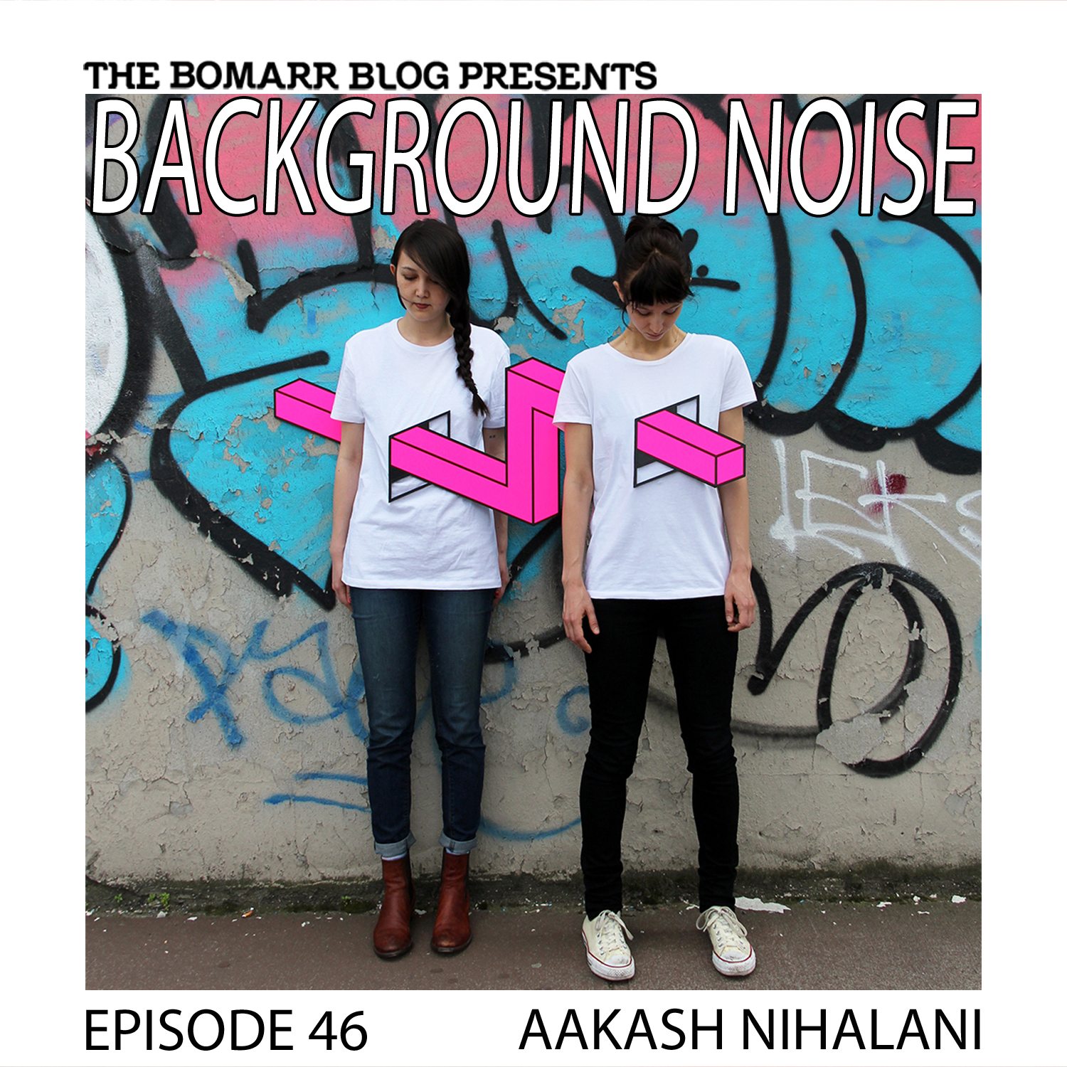 THE BACKGROUND NOISE PODCAST SERIES FOCUSES ON THE MUSIC THAT ARTISTS LISTEN TO WHEN THEY WORK, WHAT MUSIC INSPIRES THEM, OR JUST MUSIC THEY LIKE. THIS WEEK, IN EPISODE 46, THE FOCUS IS ON ARTIST AAKASH NIHALANI   IMAGE © AAKASH NIHALANI
