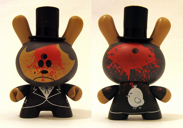 """""""dead abe"""" dunny for kid robot"""