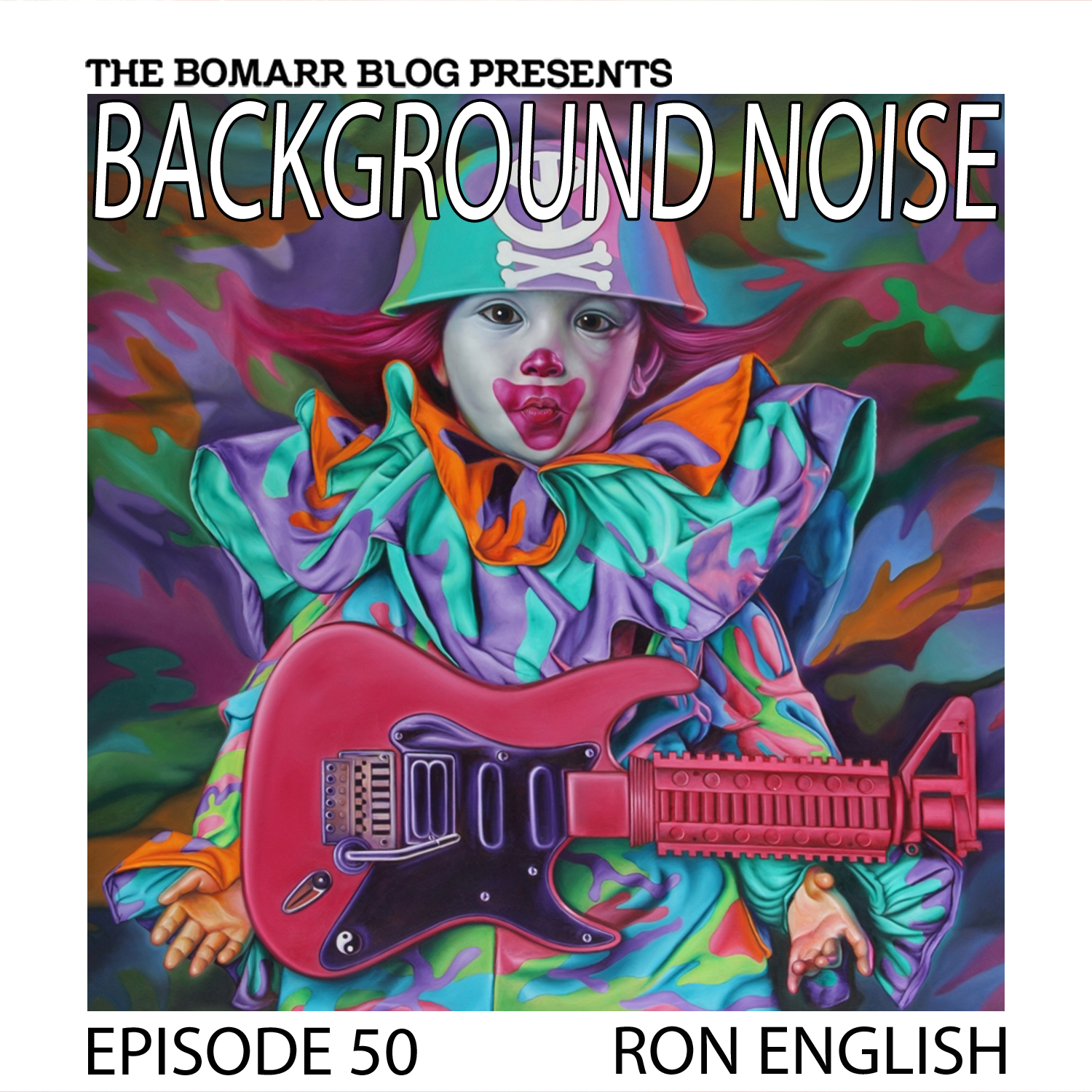 THE BACKGROUND NOISE PODCAST SERIES FOCUSES ON THE MUSIC THAT ARTISTS LISTEN TO WHEN THEY WORK, WHAT MUSIC INSPIRES THEM, OR JUST MUSIC THEY LIKE. THIS WEEK, IN EPISODE 50, THE FOCUS IS ON ARTIST RON ENGLISH