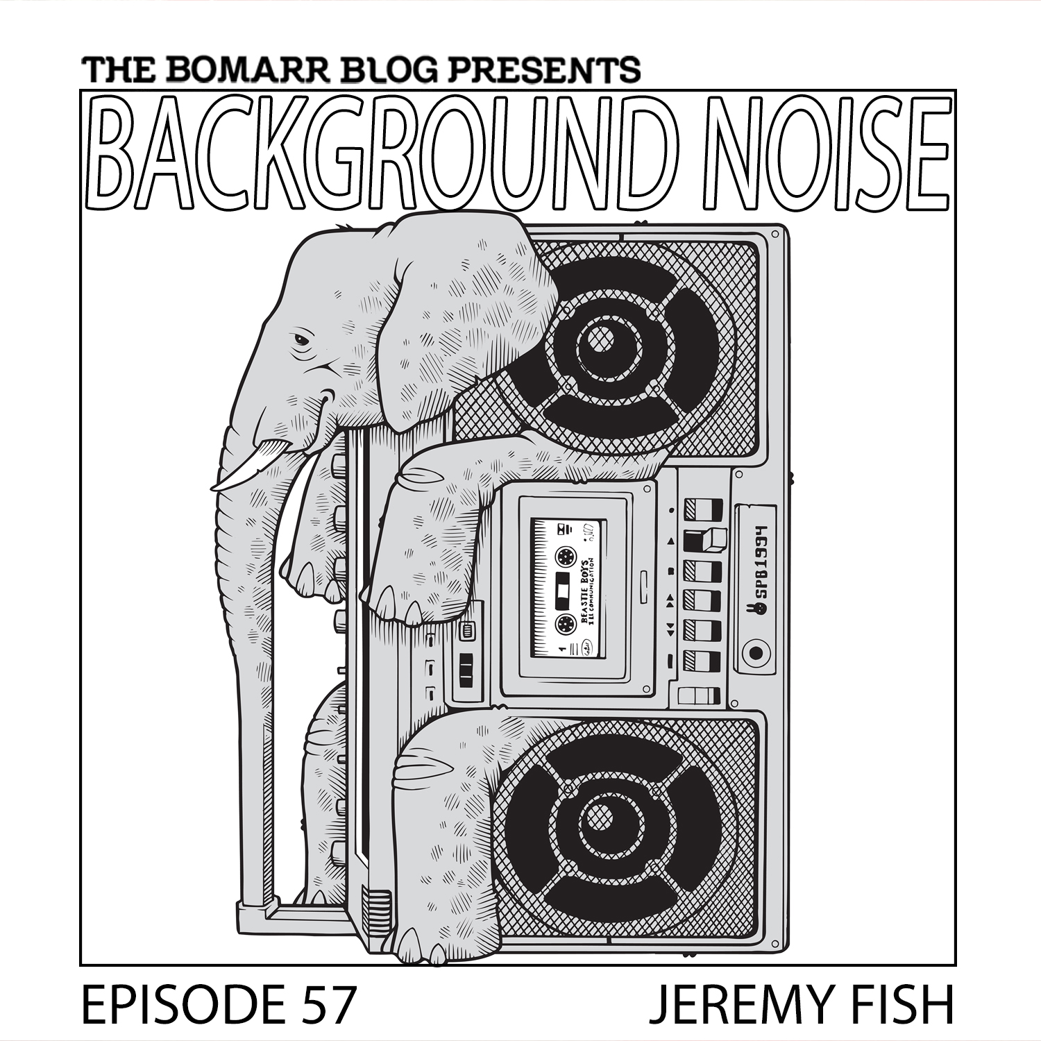 THE BACKGROUND NOISE PODCAST SERIES FOCUSES ON THE MUSIC THAT ARTISTS LISTEN TO WHEN THEY WORK, WHAT MUSIC INSPIRES THEM, OR JUST MUSIC THEY LIKE. THIS WEEK, IN EPISODE 57, the focus is on artist jeremy fish