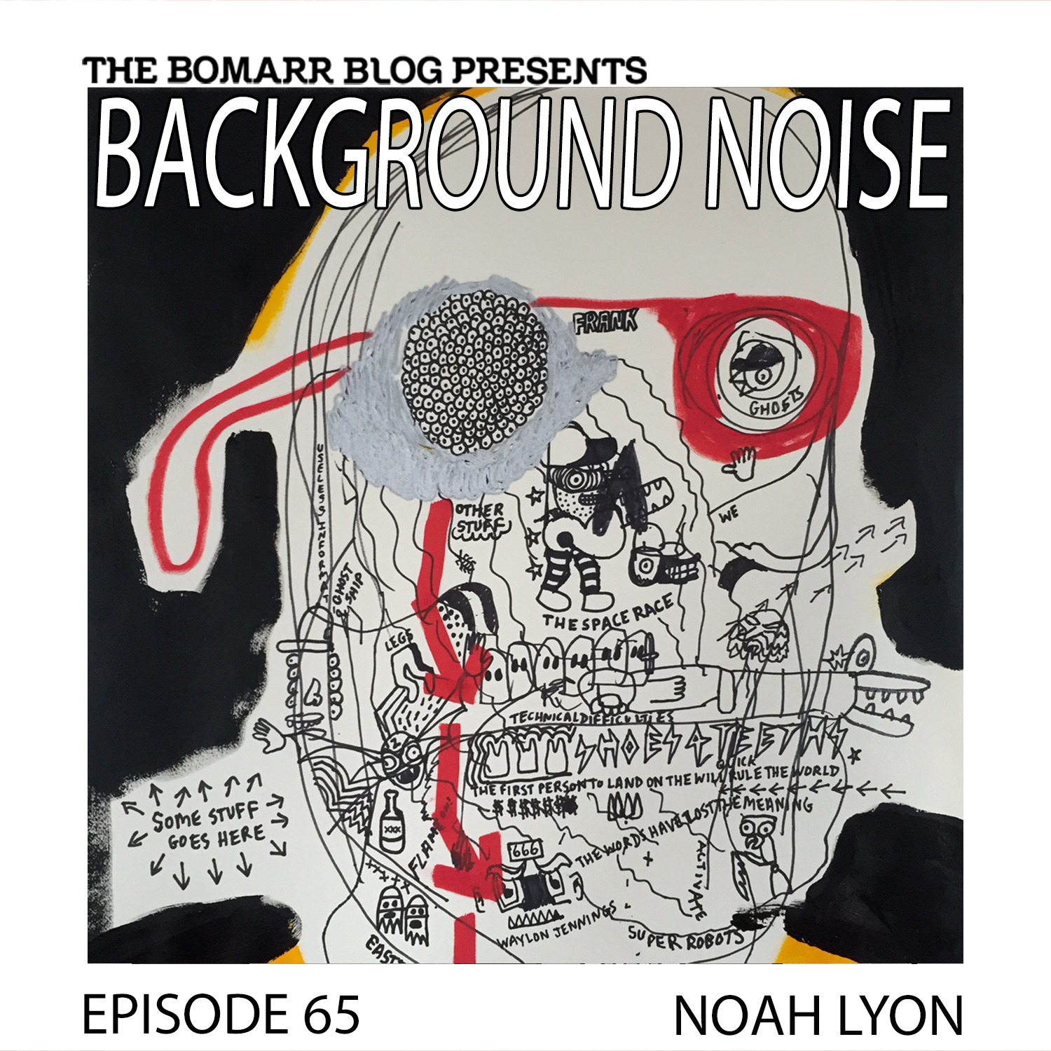 THE BACKGROUND NOISE PODCAST SERIES FOCUSES ON THE MUSIC THAT ARTISTS LISTEN TO WHEN THEY WORK, WHAT MUSIC INSPIRES THEM, OR JUST MUSIC THEY LIKE. THIS WEEK, IN EPISODE 65, THE FOCUS IS ON ARTIST NOAH LYON.