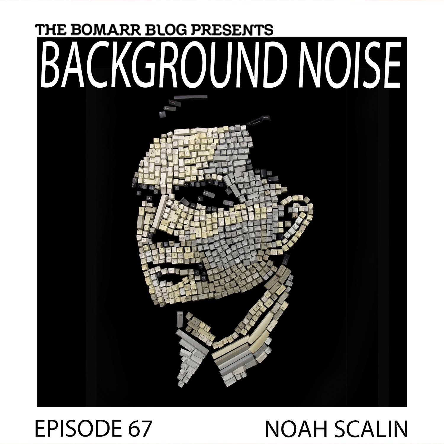 THE BACKGROUND NOISE PODCAST SERIES FOCUSES ON THE MUSIC THAT ARTISTS LISTEN TO WHEN THEY WORK, WHAT MUSIC INSPIRES THEM, OR JUST MUSIC THEY LIKE. THIS WEEK, IN EPISODE 67, THE FOCUS IS ON ARTIST NOAH SCALIN