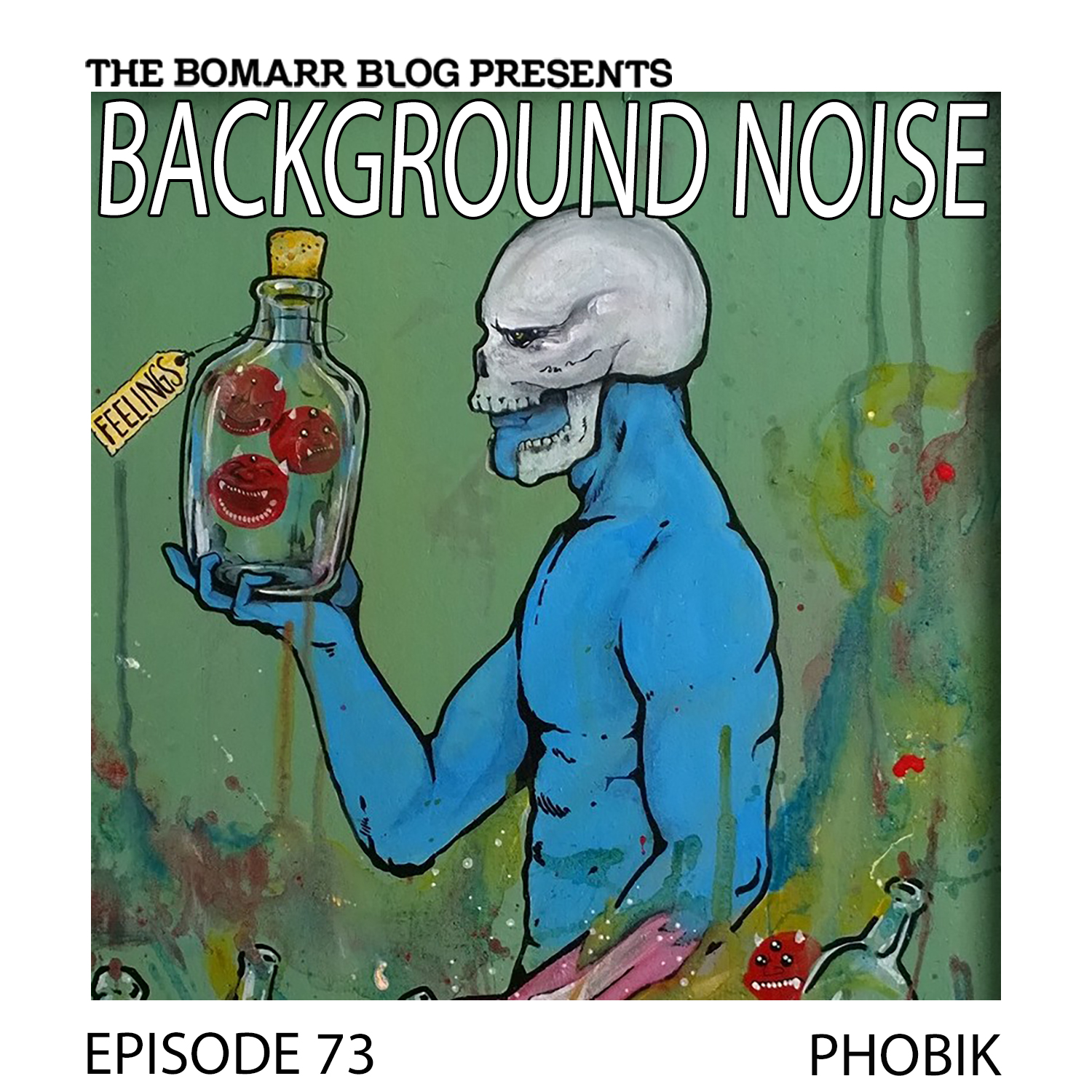 THE BACKGROUND NOISE PODCAST SERIES FOCUSES ON THE MUSIC THAT ARTISTS LISTEN TO WHEN THEY WORK, WHAT MUSIC INSPIRES THEM, OR JUST MUSIC THEY LIKE. THIS WEEK, IN EPISODE 73, THE FOCUS IS ON ARTIST PHOBIK