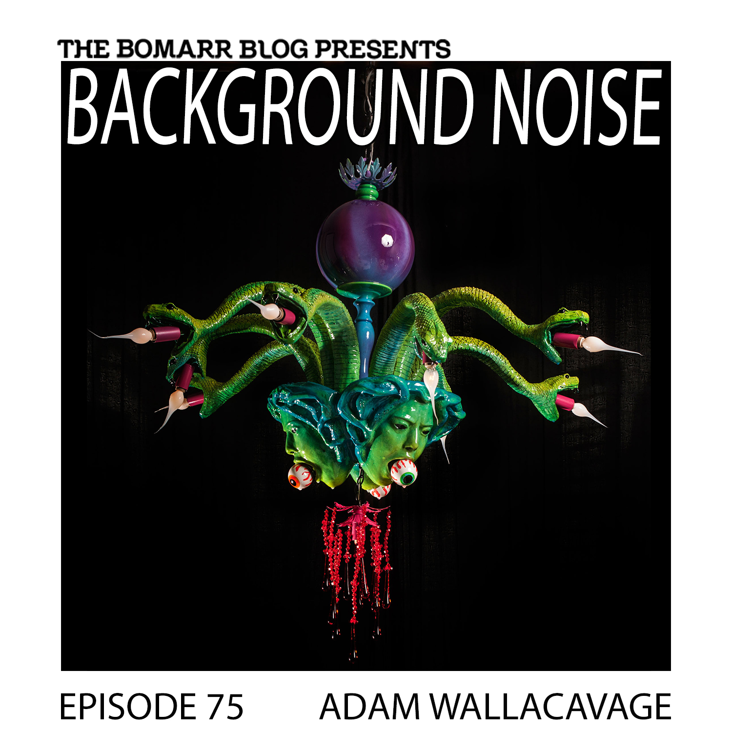 THE BACKGROUND NOISE PODCAST SERIES FOCUSES ON THE MUSIC THAT ARTISTS LISTEN TO WHEN THEY WORK, WHAT MUSIC INSPIRES THEM, OR JUST MUSIC THEY LIKE. THIS WEEK, IN EPISODE 75, THE FOCUS IS ON ARTIST ADAM WALLACAVAGE