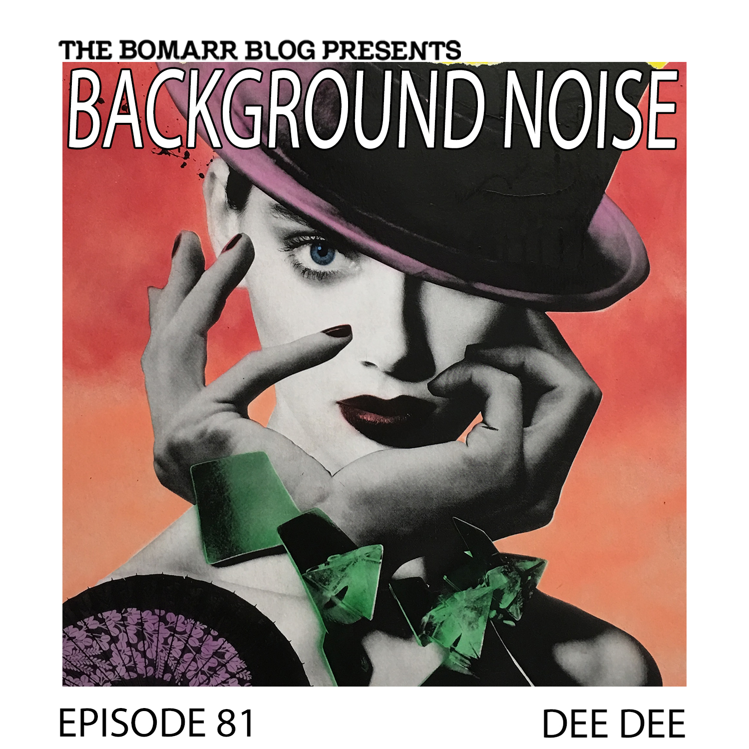 THE BACKGROUND NOISE PODCAST SERIES FOCUSES ON THE MUSIC THAT ARTISTS LISTEN TO WHEN THEY WORK, WHAT MUSIC INSPIRES THEM, OR JUST MUSIC THEY LIKE. THIS WEEK, IN EPISODE 81, THE FOCUS IS ON DEE DEE