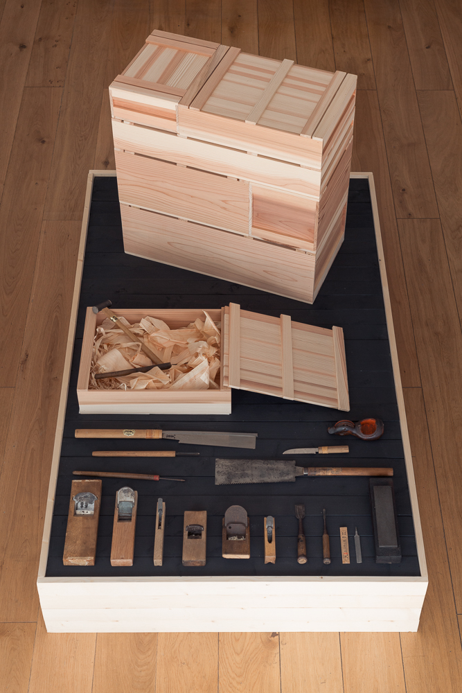 A full set of Carpenter's Boxes and his tools