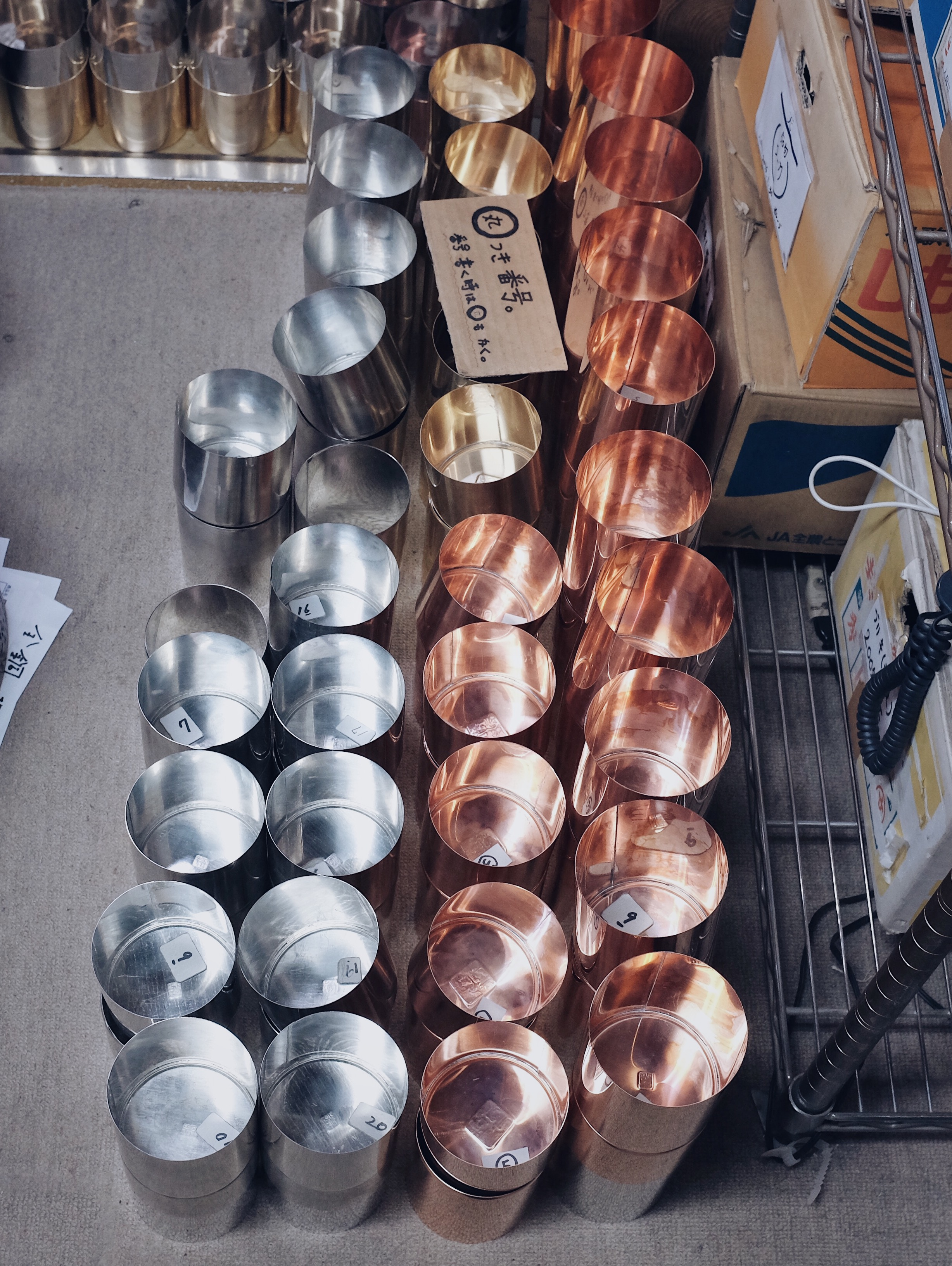 The outer wall made from brass or copper is lined with an internal tin wall. Its double walled design retains the flavour and quality of freshly picked tealeaves as well as coffee beans, herbs, and spices.