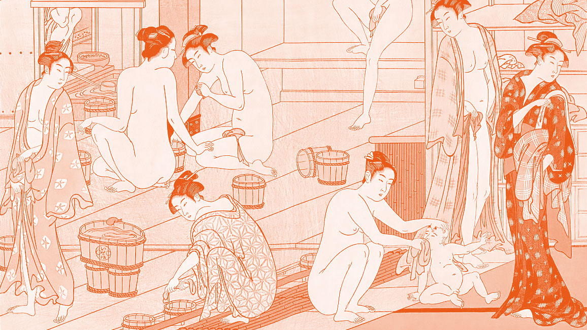 Torii Kiyonaga '鳥居 清長' (1752 – 1815) Bathhouse Women