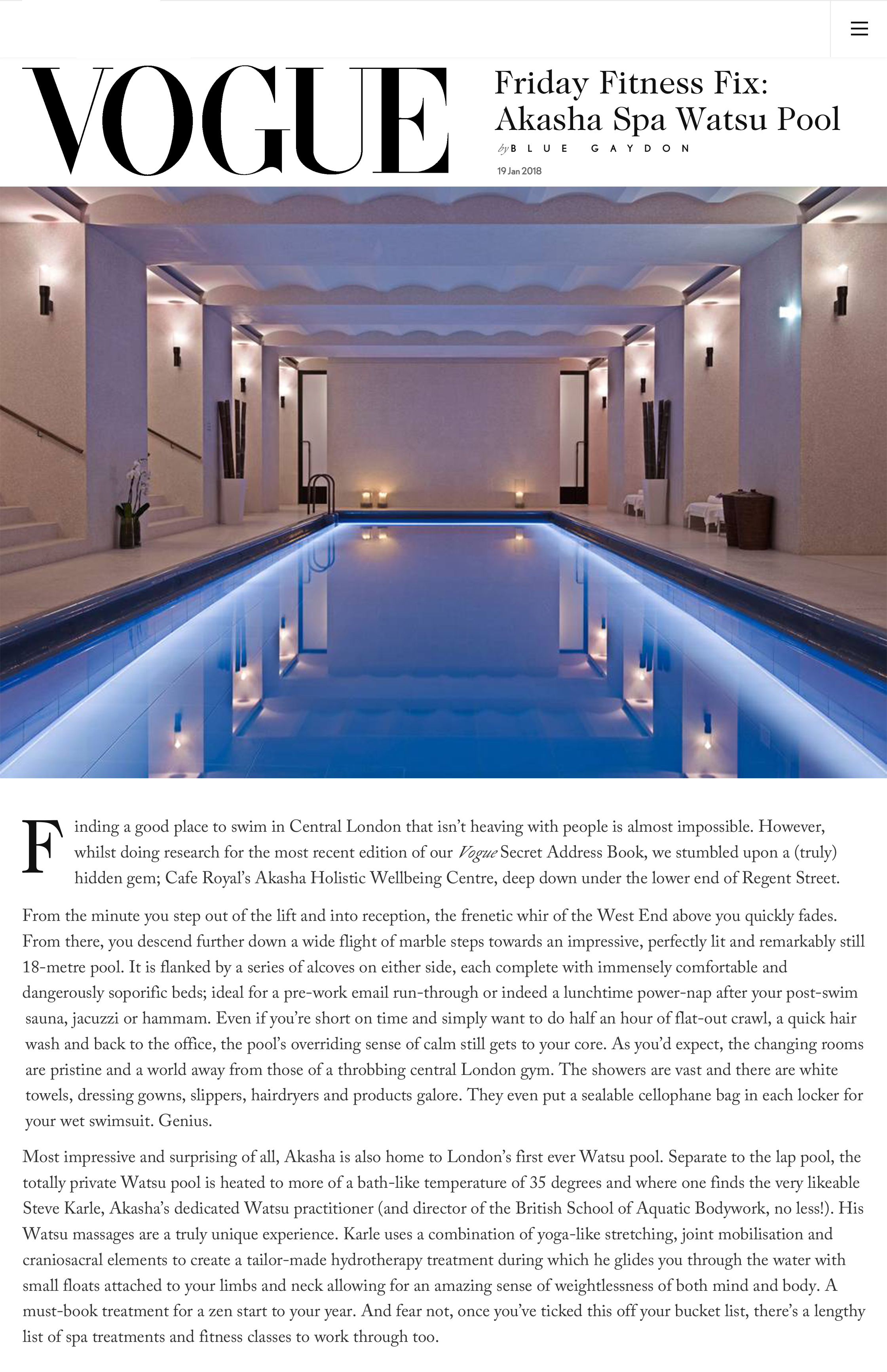 A truly unique experience and a must-book treatment. — VOGUE