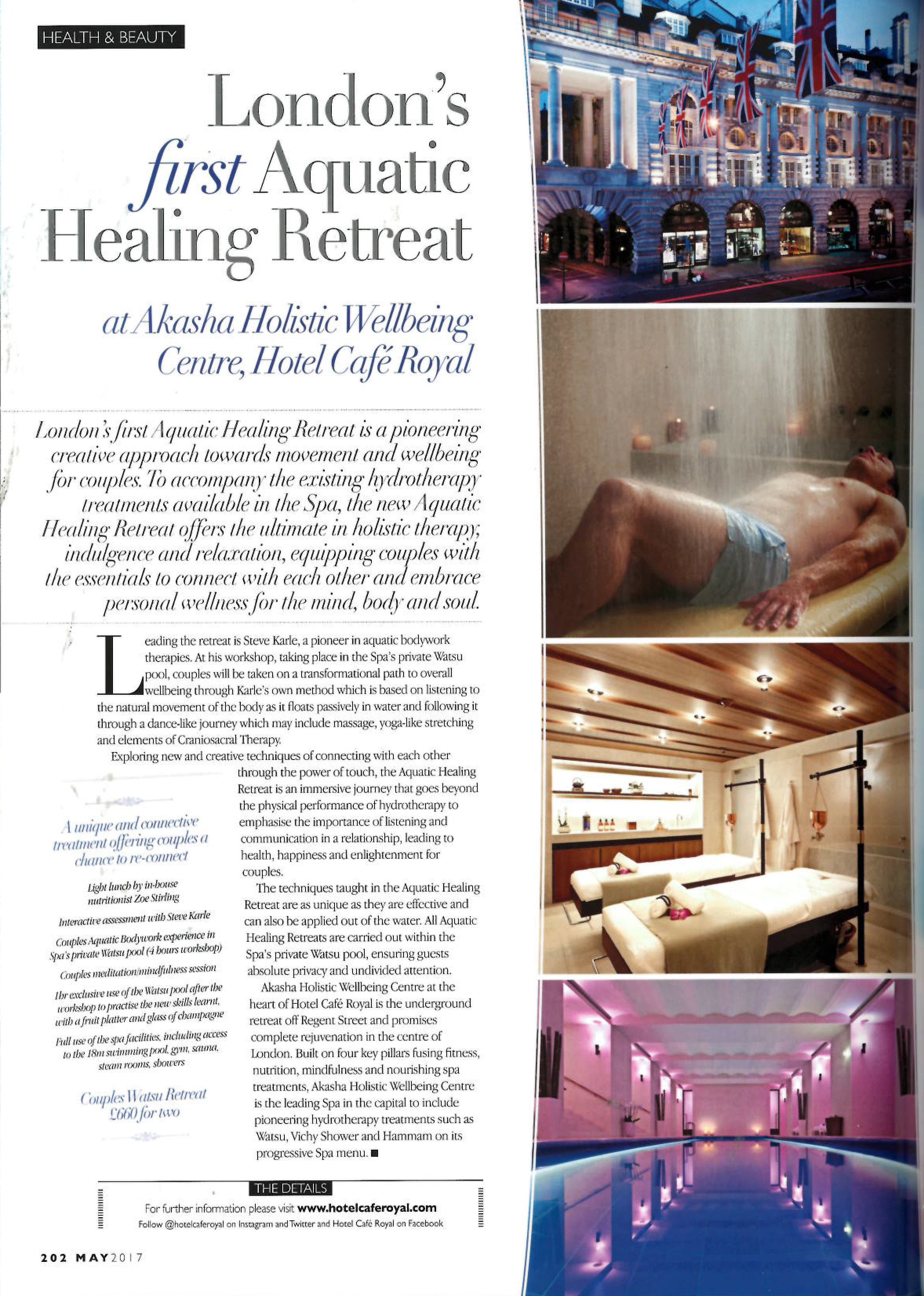 The ultimate in holistic therapy, indulgence and relaxation.  —MAYFAIR TIMES