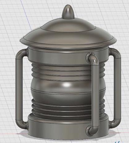Tardis Lamp in CAD