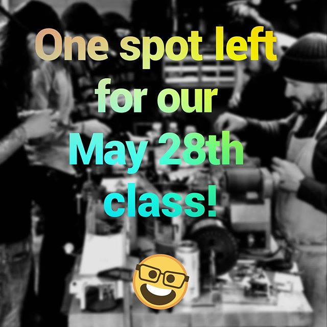 Grizzly Irons Machine Class has room for one on May 28th. The commitment is most of the day starting at 9:30. DM for details..