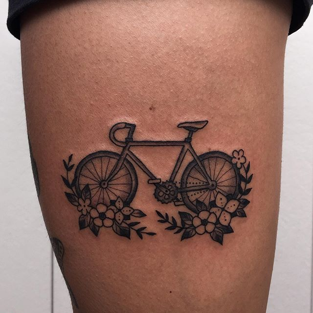Bike for Lulu, and a matching one for Keegan. Thanks, you two! #portlandtattoo