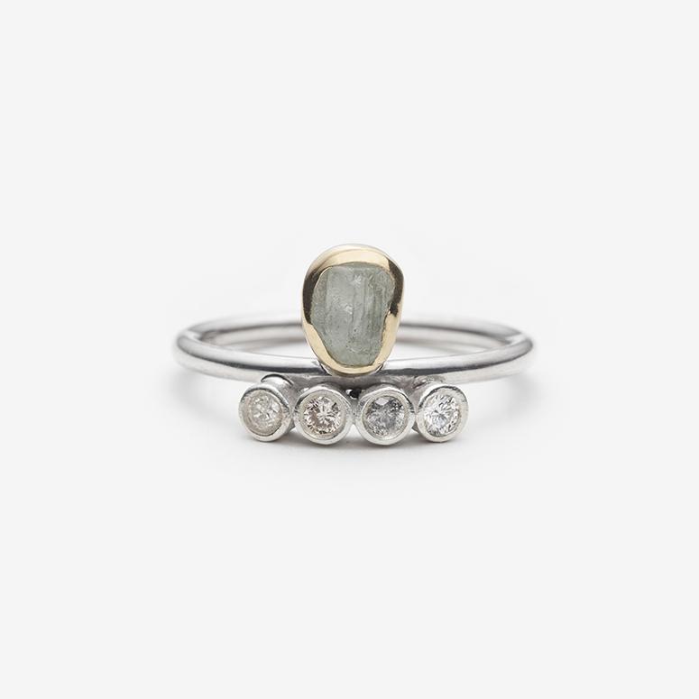 Rough Green Sapphire and Diamond Ring.jpg