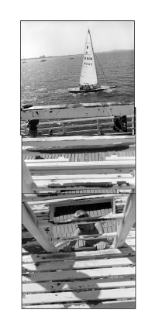 John O'Neil  Sailing, Eastern Beach  Photograph 128x61cms (unframed $1,500)