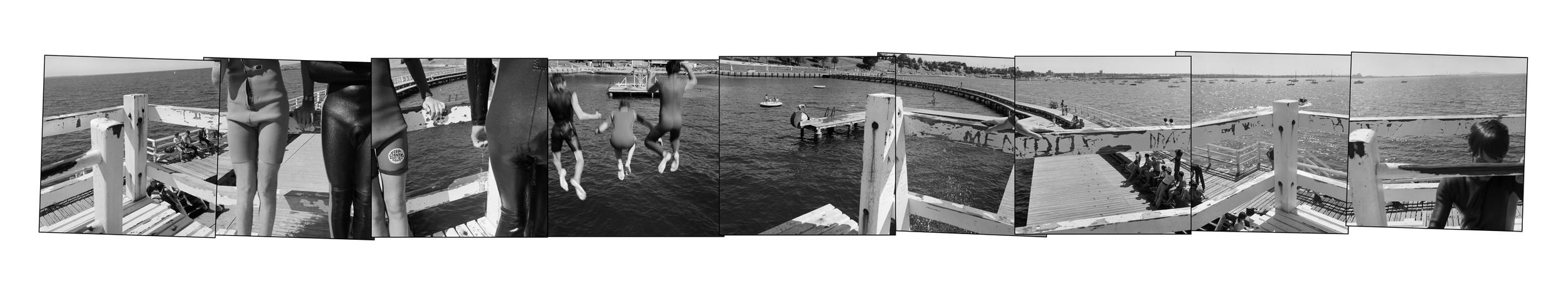 John O'Neil  Eastern Beach (Jumpers)  Photograph 61x300cms (unframed $2,750)