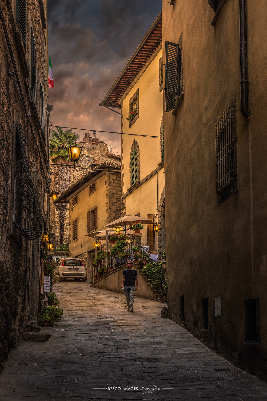 Dusk in Cortona