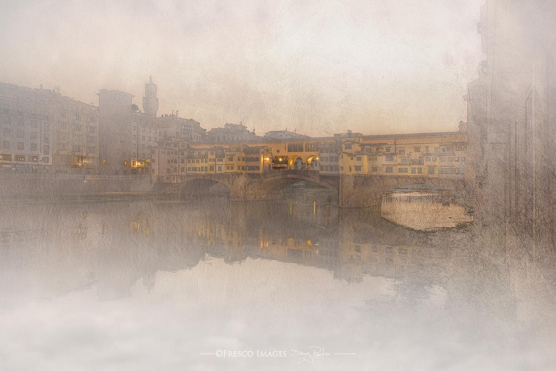 Ponte Vecchio nella nebia