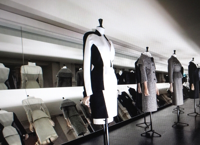 Chanel designs on manequins