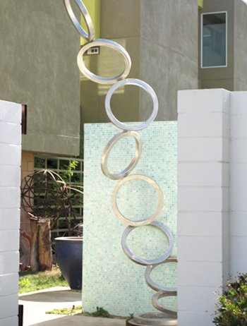 One of my favorite sculptures in Palm Springs: Dancing Steel rings.