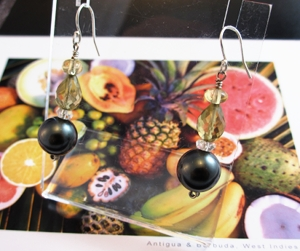 Brown Sugar Sweet ear jewelry inspired by the bar at Sugar Ridge Hotel on Antigua.
