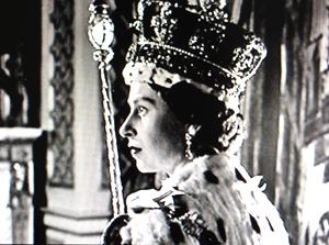 Queen Elizabeth II coronation portrait by Cecil Beaton. photo credit: see below