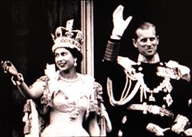 on the Royal Balcony at Buckingham Palace. photo credit: see below