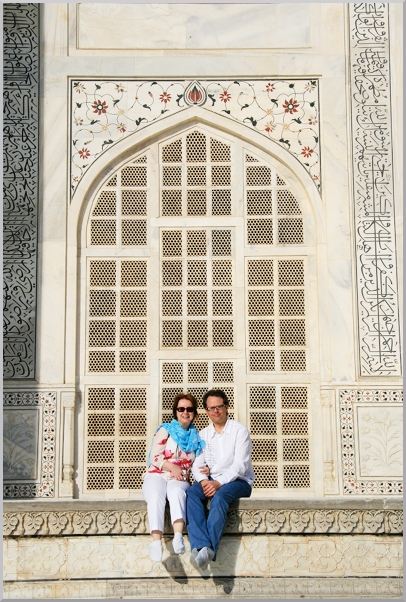 Me and Kevin at the Taj Mahal being Tourists.