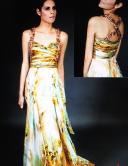 My Must-have party dress by Mikael Aghal in citrus colors.