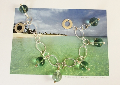 Emeral green Fluorite reminds my of the Emerald Lagoon on St. Lucia.